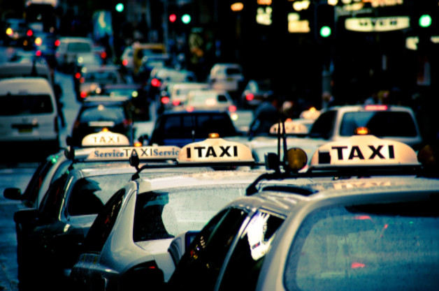 row of taxis: Babcock Car Accidents article