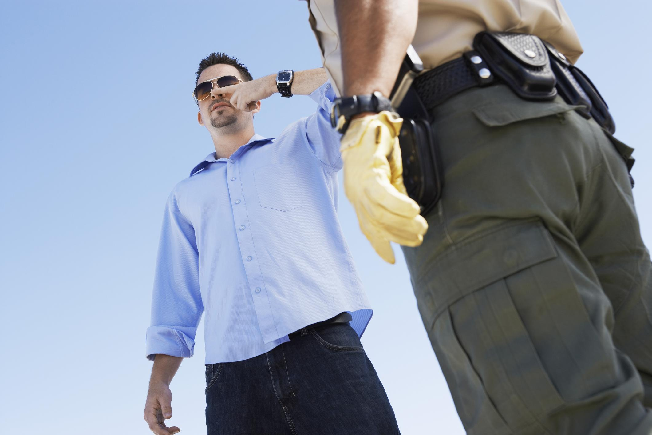 man-forced-to-take-a-field-sobriety-test-by-a-police-officer